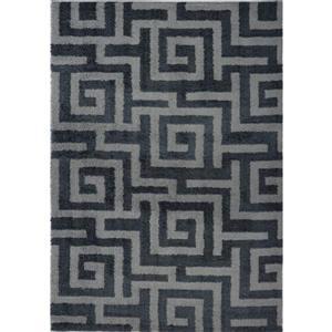 La Dole Rugs®  Calgary Abstract Area Rug - 5.3' x 7.5' - Microfibre - Gray