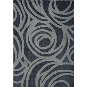 La Dole Rugs® Victoria Abstract Rug - 7.8' x 10.4' - Microfibre - Gray