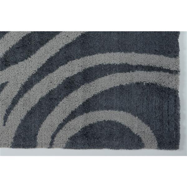 Tapis abstrait Victoria, 2,6' x 4,9', microfibre, gris