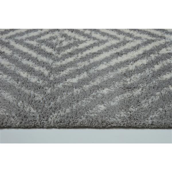 La Dole Rugs® Whistler Abstract Area Rug - 3.9' x 5.6' - Microfibre - Gray