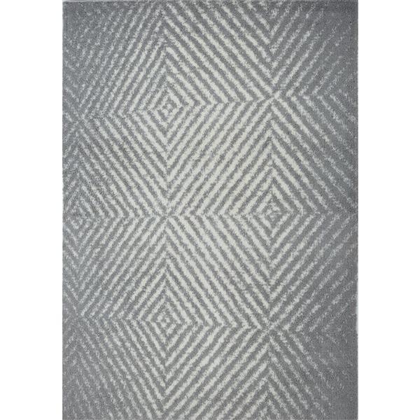 La Dole Rugs® Whistler Abstract Area Rug - 2.6' x 9.8' - Microfibre - Gray