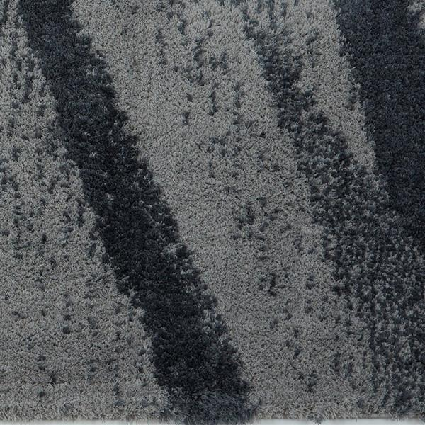 La Dole Rugs®  Jasper Abstract Area Rug - 7.8' x 10.4' - Microfibre - Gray