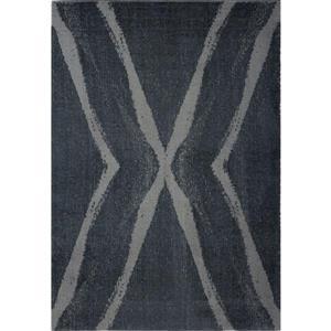 Tapis abstrait Vancouver, 3,9' x 5,6', microfibre, gris