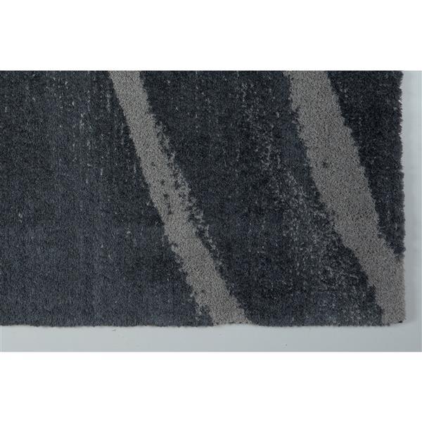 La Dole Rugs® Vancouver Abstract Rug - 6.4' x 9.4' - Microfibre - Gray