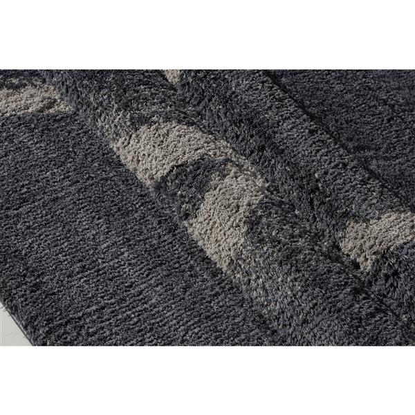 La Dole Rugs® Vancouver Abstract Rug - 7.8' x 10.4' - Microfibre - Gray