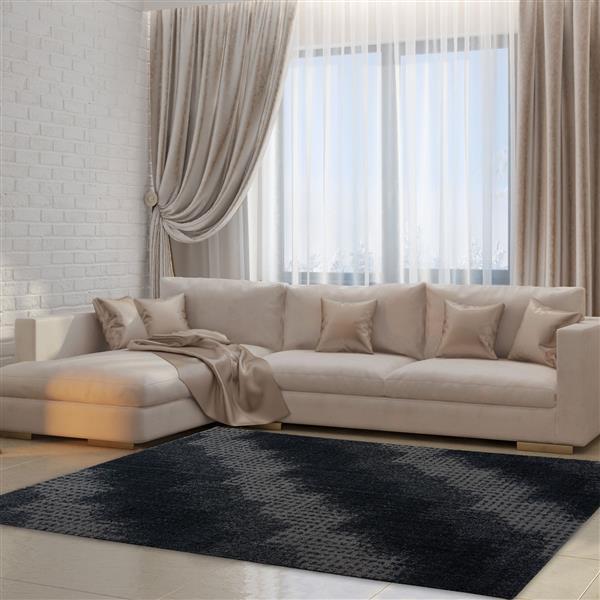 La Dole Rugs®  Coquitlam Abstract Rug - 6.4' x 9.4' - Microfibre - Gray