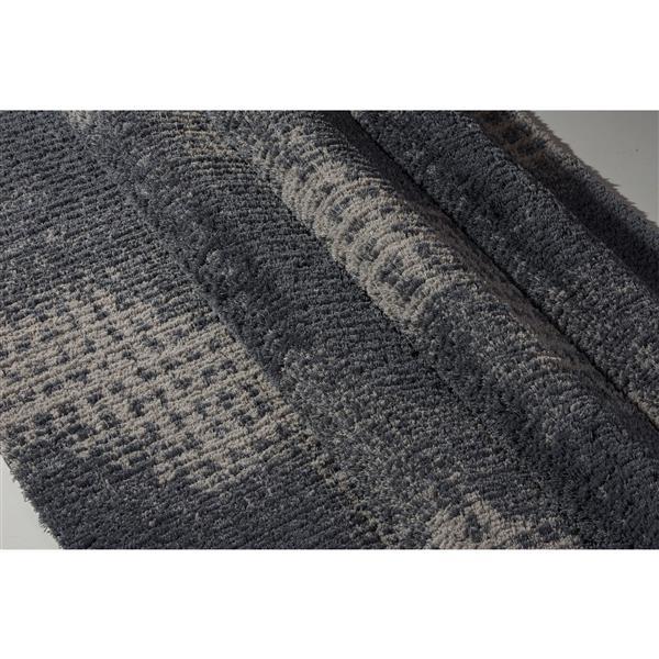 La Dole Rugs®  Coquitlam Abstract Rug - 2.6' x 4.9' - Microfibre - Gray