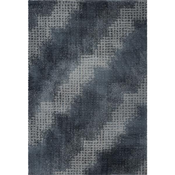 La Dole Rugs®  Coquitlam Abstract Rug - 2.6' x 9.8' - Microfibre - Gray