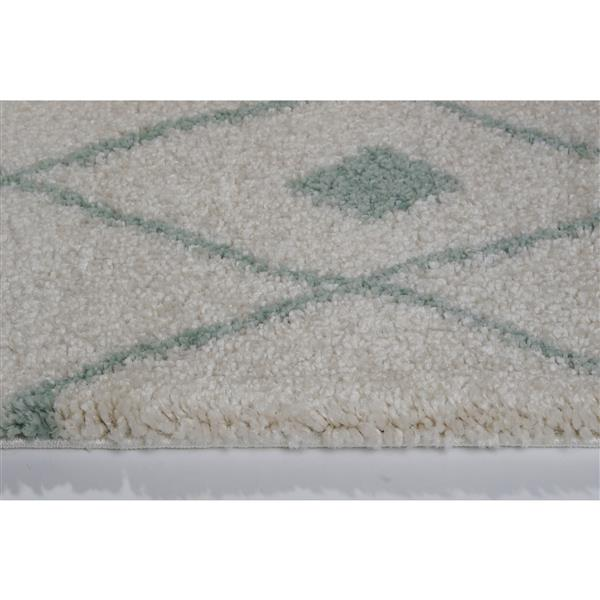 La Dole Rugs® Trellis Rug - 7.8' x 10.4' - Polypropylene - Ivory/Green