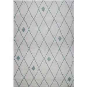 Tapis à treillis, 7,8' x 10,4', polypropylène, ivoire/vert