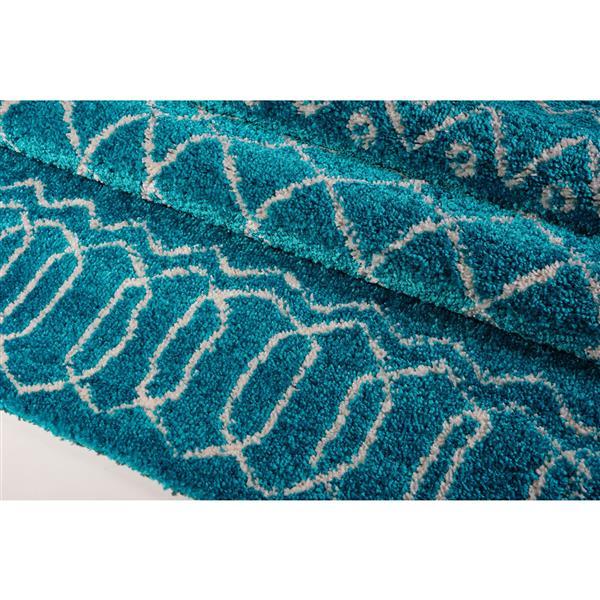 La Dole Rugs®  Area Rug - 6.4' x 9.4' - Polypropylene - Turquoise/Ivory