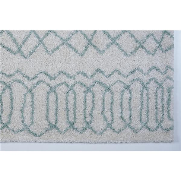 La Dole Rugs® Trellis Area Rug - 5.3' x 7.5' - Polypropylene - Ivory/Green