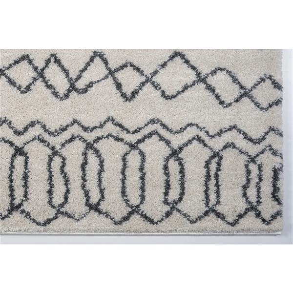 La Dole Rugs®  Area Rug - 6.4' x 9.4' - Polypropylene - Ivory/Light Gray