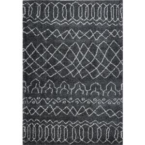 Tapis à treillis, 5,3' x 7,5', polypropylène, gris/ivoire