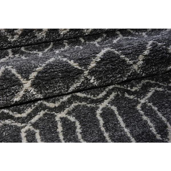 La Dole Rugs® Trellis Area Rug - 3.9' x 5.6' - Polypropylene - Gray/Ivory