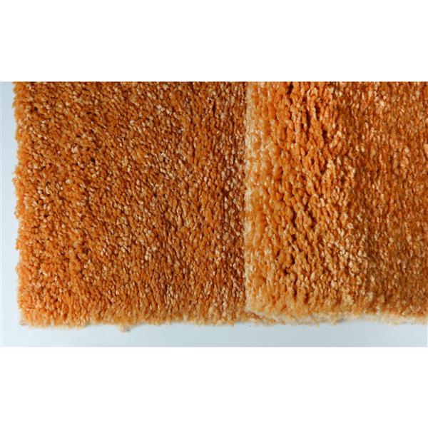 Tapis Candy, 7,8' x 10,4', polypropylène, orange