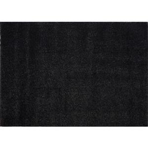 Tapis Candy, 3,9' x 5,6', polypropylène, gris foncé