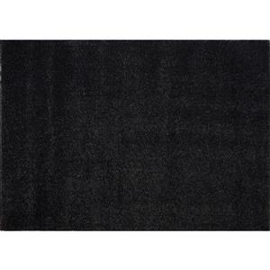 Tapis Candy, 6,4' x 9,4', polypropylène, gris foncé