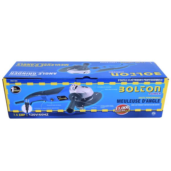 """Bolton Toolway Bolton Power 4 1/2"""" Angle Grinder - 11000 RPM -6.8 A"""