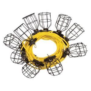Lampe de travail temporaire suspendue - 10 Cages en Métal