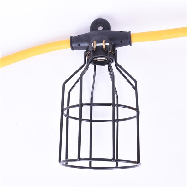 Toolway Temporary String Worklight STW - 15 m - 5 Metal Cages