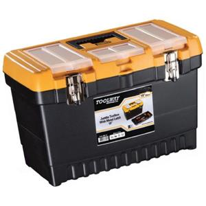 Toolway Jumbo Professional Toolbox - Plastic - 19-in