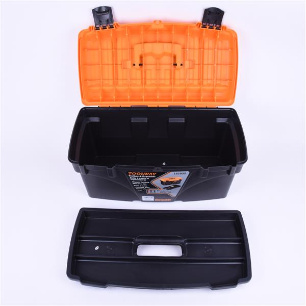 Toolway Classic Toolbox with Flat Lid - 21-in
