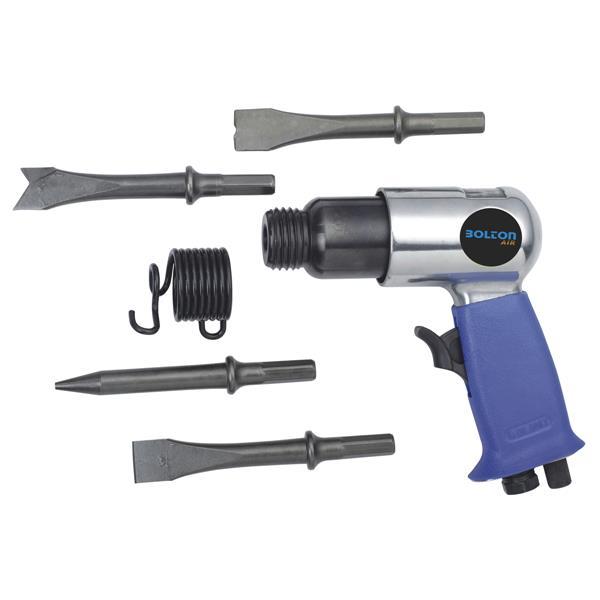 Ensemble marteau pneumatique Toolway, 6 pièces