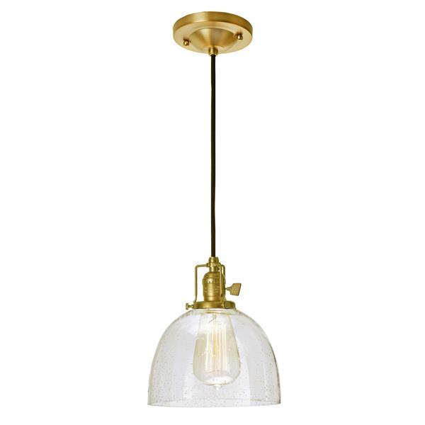JVI Designs Madison 1-Light Pendant - 69-in - Satin Brass