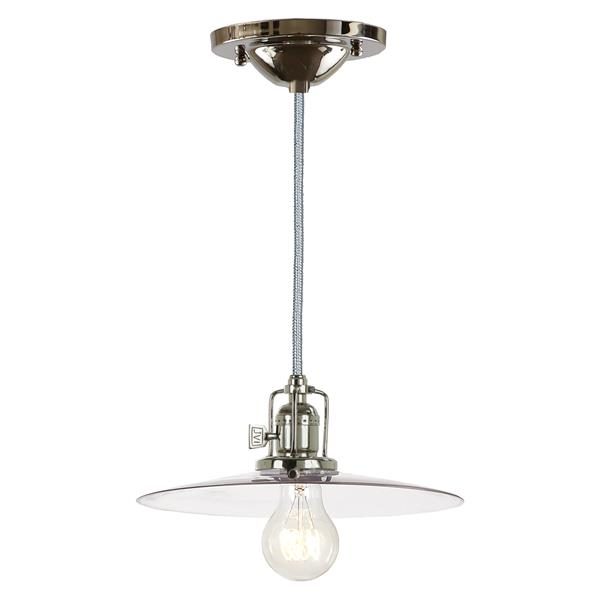 JVI Designs Berkeley 1-Light Pendant - 10-in x 65.5-in - Polished Nickel