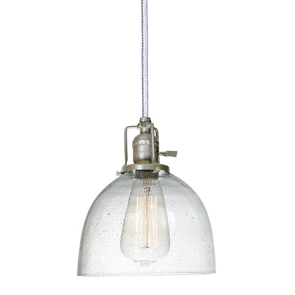 JVI Designs Madison 1-Light Pendant - 7-in x 69-in - Nickel