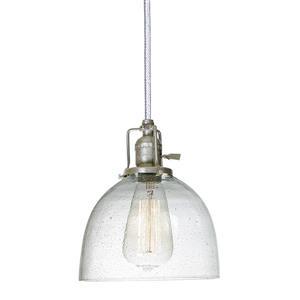 JVI Designs Madison 1-Light Pendant - 7-in x 69-in - Nickel
