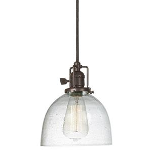 JVI Designs Madison 1-Light Pendant - 7-in x 69-in - Bronze