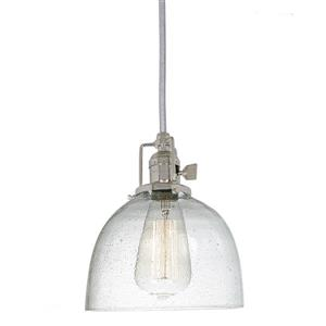 JVI Designs Madison 1-Light Pendant - 69-in - Nickel