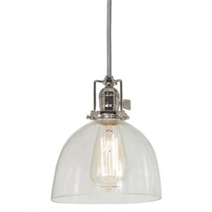 JVI Designs Madison 1-Light Pendant - 7-in x 69-in - Polished Nickel