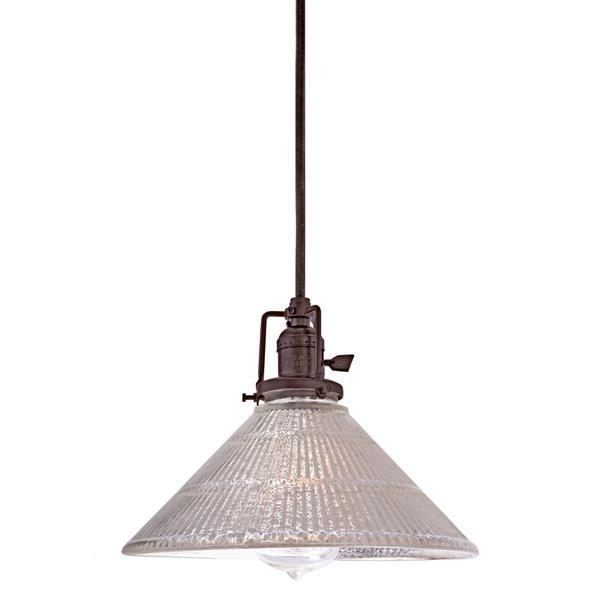 JVI Designs 1-Light Pendant - 10-in x 68.5-in - Glass - Bronze