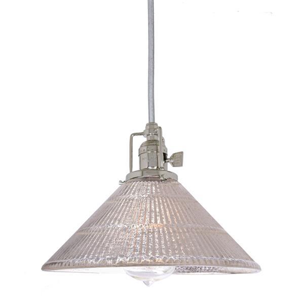 JVI Designs Bailey 1-Light Pendant - 10-in x 68.5-in - Nickel