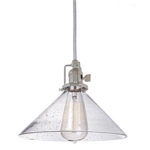 JVI Designs Bailey 1-Light Pendant - 68.5-in - Nickel