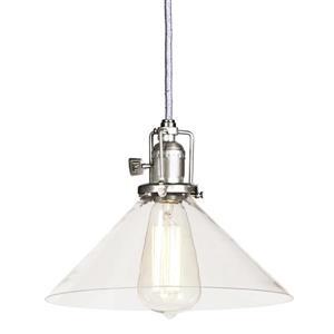 JVI Designs Bailey 1-Light Pendant - 10-in x 68.5-in - Satin Nickel