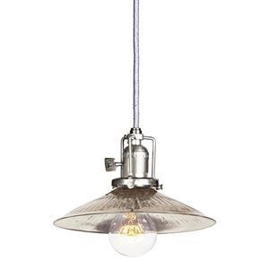 JVI Designs Ashbury 1-Light Pendant - 66.5-in - Satin Nickel