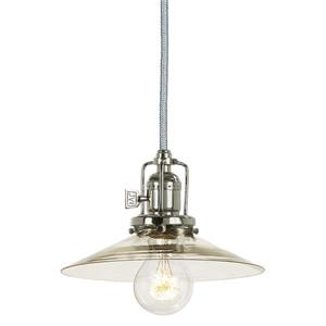JVI Designs Ashbury 1-Light Pendant - 8-in x 66.5-in - Polished Nickel
