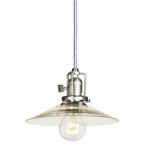 JVI Designs Ashbury 1-Light Pendant - 8-in x 66.5-in - Satin Nickel