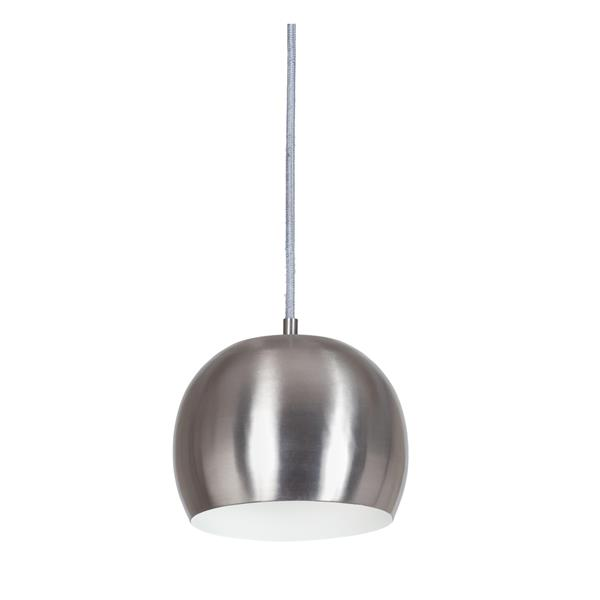 JVI Designs Bristol 1-Light Pendant - 8-in x 67-in - Satin Nickel