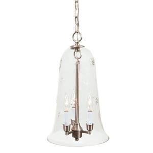 JVI Designs Sophia 3-Light Pendant - 55-in - Satin Nickel