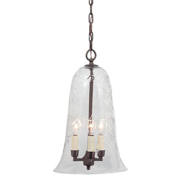 JVI Designs Sophia 3-Light Pendant - 55-in - Bronze
