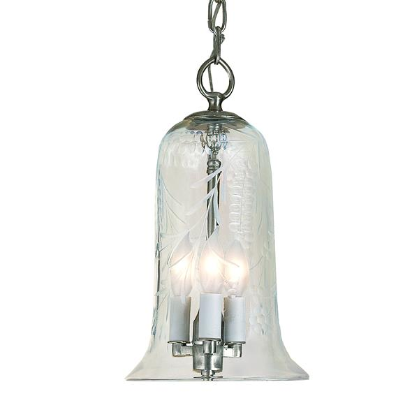 JVI Designs Sophia 3-Light Pendant - 7-in x 50.5-in - Satin Nickel