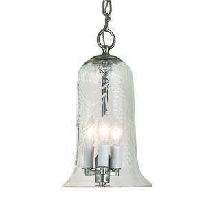 JVI Designs Sophia 3-Light Pendant - 7-in x 50.5-in - Satin Nickel