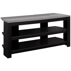 Monarch TV Stand with Grey Top Corner - 42-in L