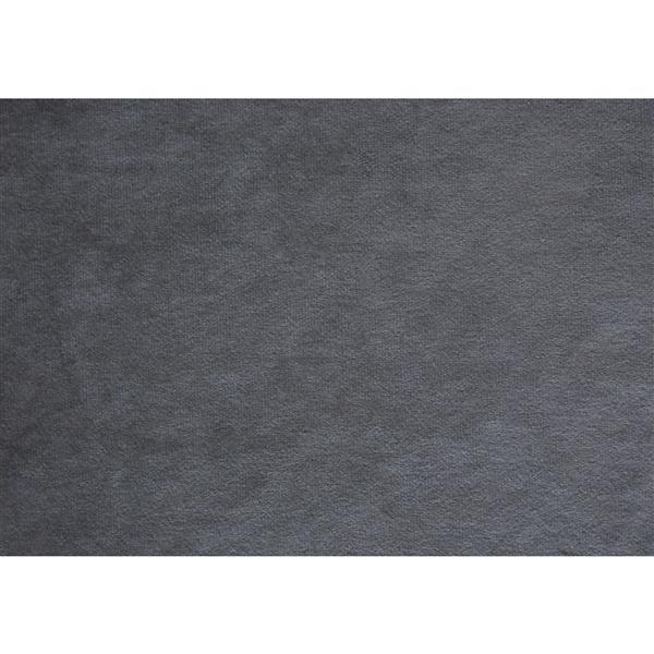 Monarch Bed Dark Grey Velvet with Chrome Trim - Queen size