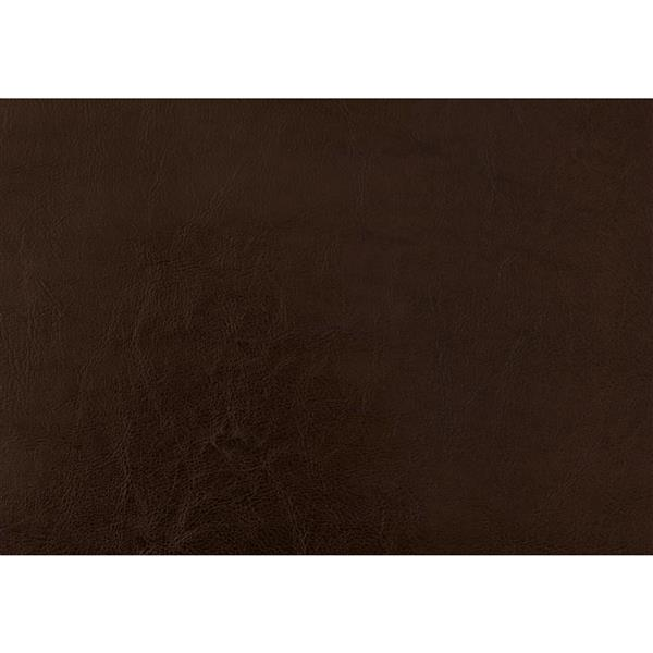 Monarch Bed Brown Leather  Look with Wood Legs - Queen Size